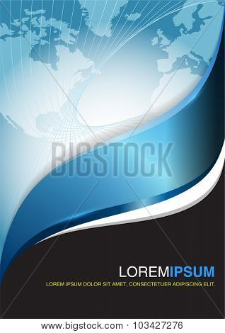 Blue business vector design. Abstract background for flyer, brochure or poster.