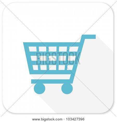 cart blue flat icon