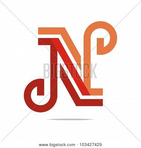 Logo design letter M Icon symbol vector