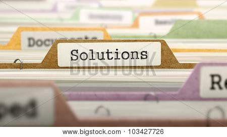 Folder in Catalog Marked as Solutions