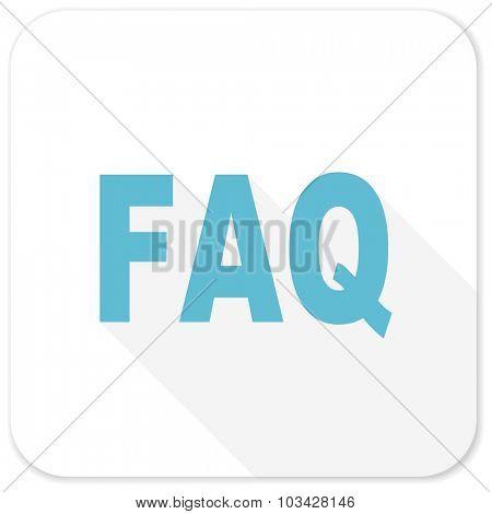 faq blue flat icon