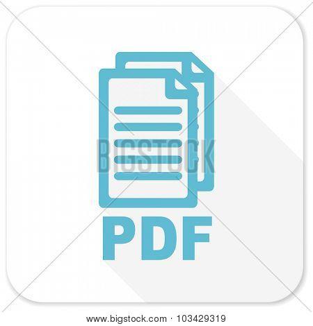 pdf blue flat icon,