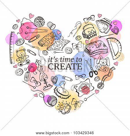 Love handmade poster