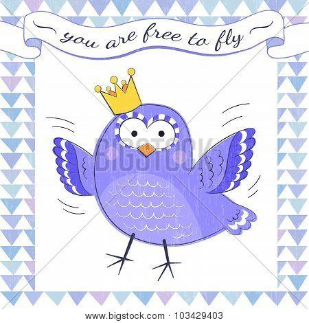 Inspiring poster with bird