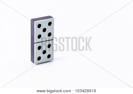 One Tile Dominoes Isolated On White Background