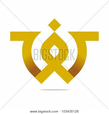 Abstract Design Element Company Name Bussines Letter Symbol Icon
