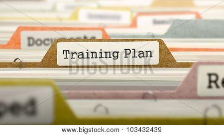 Training Plan on Business Folder in Catalog.