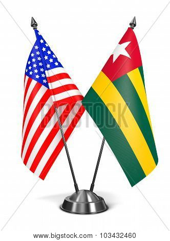 USA and Togo - Miniature Flags.