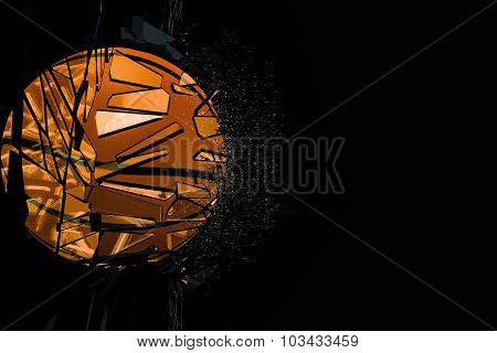 Basket Ball Breacking Glass