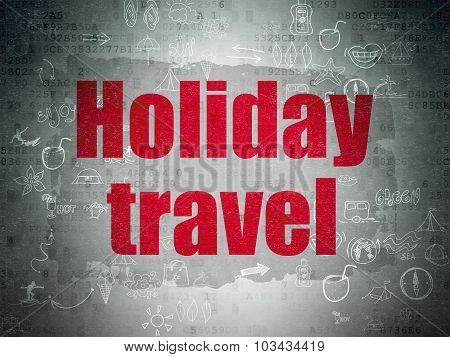 Vacation concept: Holiday Travel on Digital Paper background