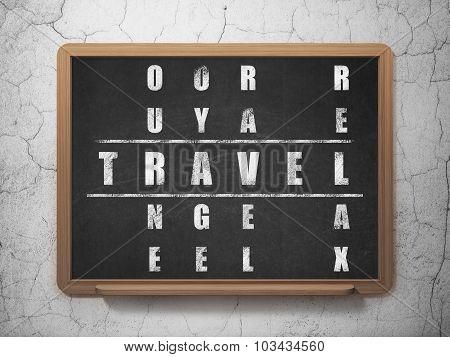 Tourism concept: Travel in Crossword Puzzle