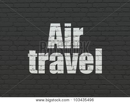 Travel concept: Air Travel on wall background
