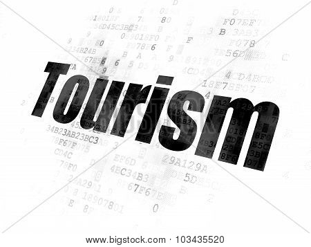 Tourism concept: Tourism on Digital background