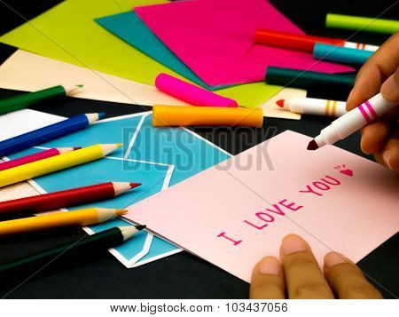 Message Card For Your Family And Friends; I Love You