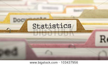 Statistics Concept on Folder Register.