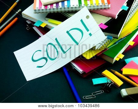 Somebody Left The Message On Your Working Desk; Sold