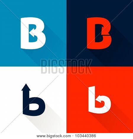 B Letter With Arrows Set.