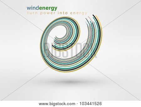 Windmill creative colorful abstract vector logo design template circle vortex business icon art comp