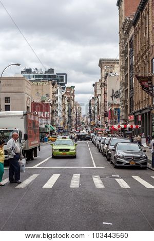 NEW YORK CITY, USA - CIRCA SEPTEMBER 2014: Famous Broadway in New York City
