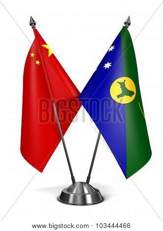 China and Christmas Island - Miniature Flags.