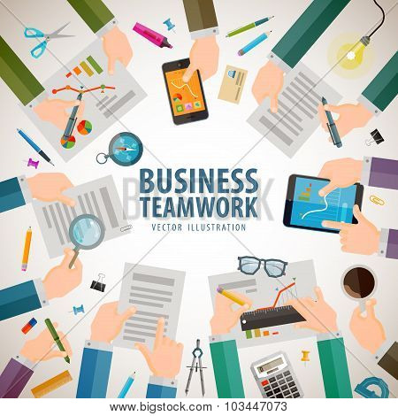 business vector logo design template. office or teamwork icons