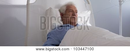 Elder Hospice Patient In Bed