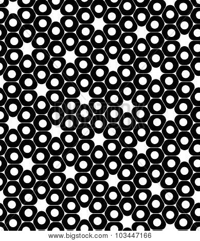 Vector modern seamless geometry pattern cells black and white