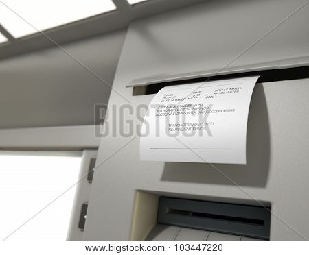 Atm Slip Declined Receipt