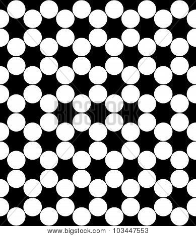 Vector Modern Seamless Geometry Pattern Circles, Black And White