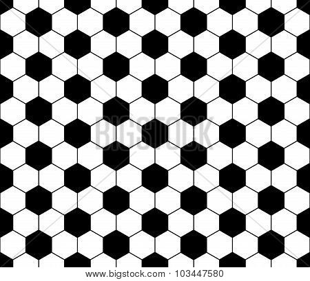 Vector modern seamless geometry pattern football black and white