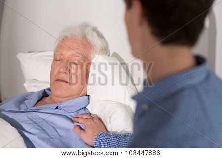 Elder Sick Man Sleeping