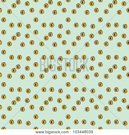 Seamless Pattern  Coin Money