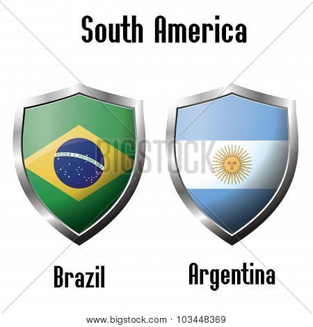 Brazil And Argentina Flag Icons Theme