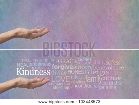 Kindness Word Cloud Banner