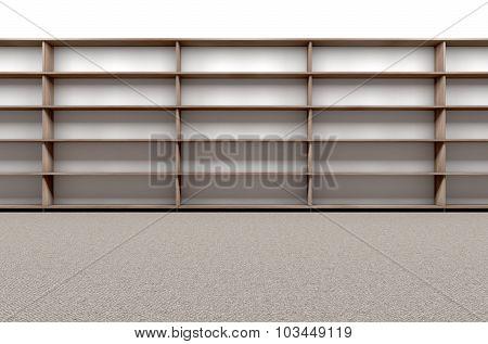 Library Bookshelf Empty