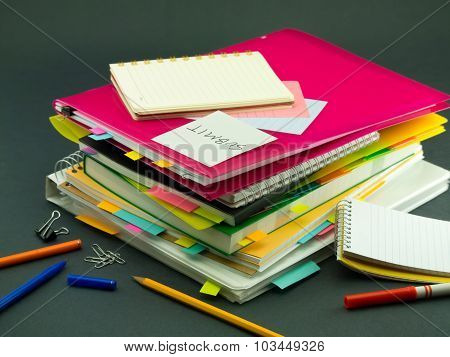 The Pile Of Business Documents; Submit