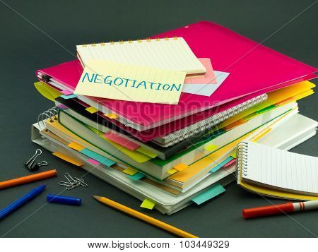 The Pile Of Business Documents; Negotiation