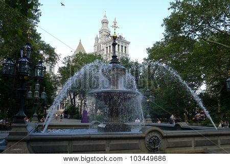 City Hall Park in Lower Manhattan