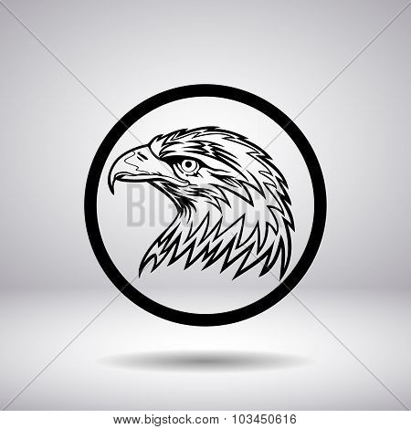 The Head Of An Eagle In A Circle
