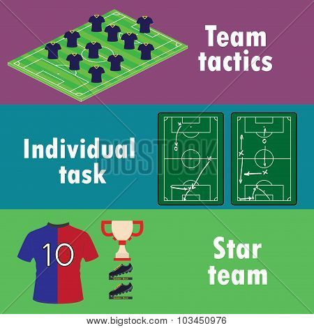 The Terms Of Team Success In Football, Banner Or Infographics