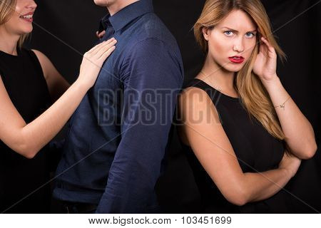 Man Betraying His Girlfriend