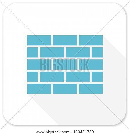 firewall blue flat icon