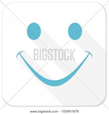 smile blue flat icon