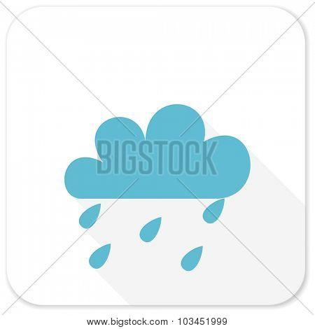 rain blue flat icon