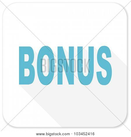 bonus blue flat icon