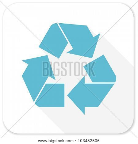 recycle blue flat icon