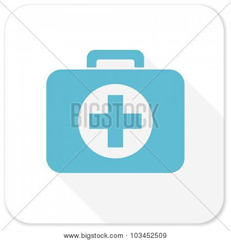 first aid blue flat icon