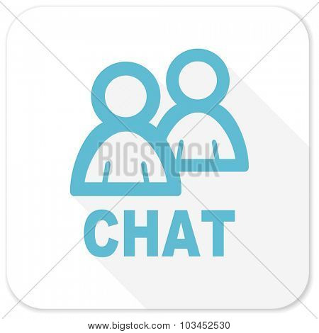 chat blue flat icon