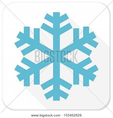 snow blue flat icon