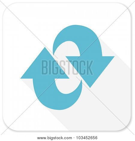 rotation blue flat icon
